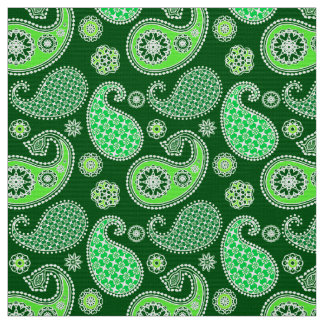 Paisley-Muster, Smaragd und Jade-Grün Stoff