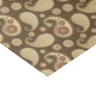 Paisley-Muster, weiches Gold auf Seidenpapier