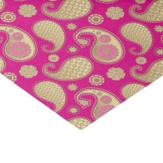 Paisley-Muster, weiches Gold auf tiefem Seidenpapier