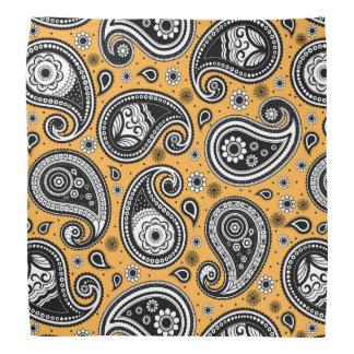 Paisley-Mustergelb-, weißes und Schwarzeselegantes Halstuch