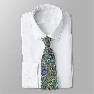 Paisley-Pfau färbt Hochzeits-Krawatte Krawatte