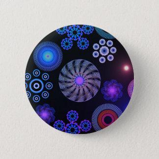 Paisley Runder Button 5,1 Cm
