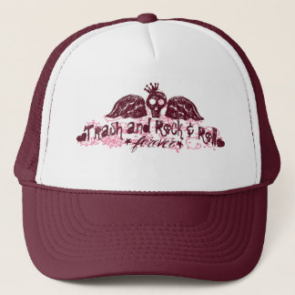 Paisley-Schädel-Fernlastfahrer-Kappe Truckerkappe