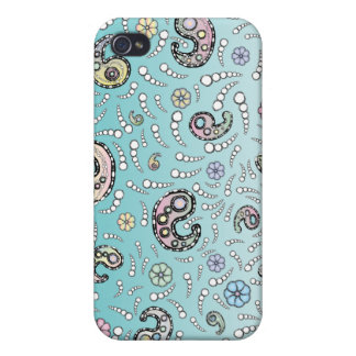 Paisley-Türkis iPhone 4 Cover