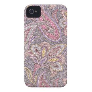 Paisley und Blumen iPhone 4 Hülle