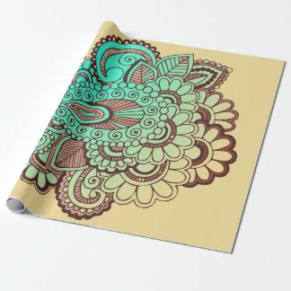 Paisley verziert I + Ihr backgr. u. Ideen Geschenkpapier