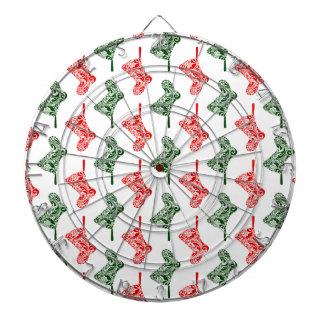 Paisley-WeihnachtsStrümpfe Dartscheibe