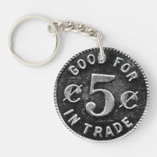 Pajakowski Taverne 5 Cent-Zeichen Schlüsselanhänger