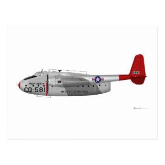 Paket Fairchild C-82 Postkarte