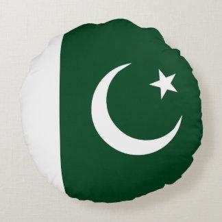 Pakistan-Flagge Rundes Kissen