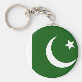 Pakistan-Flagge Standard Runder Schlüsselanhänger