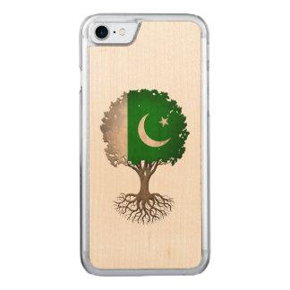 Pakistanischer Flaggen-Baum des Lebens Carved iPhone 8/7 Hülle