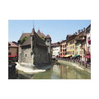 Palais de L'Isle in malerischem Annecy, Frankreich Leinwanddruck