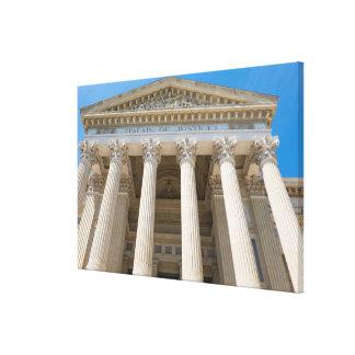 Palast des Gerechtigkeits-Äußeren Leinwanddruck