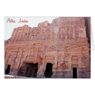 Palast-Gräber PETRA Jordanien Karte
