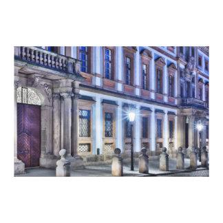 Palast-NachtLeinwand Prags toskanische Leinwanddruck