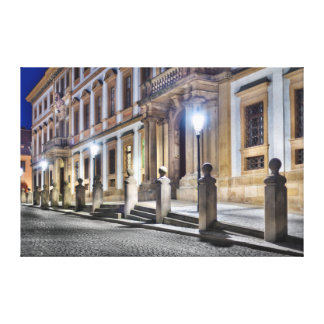 Palast-Nachtstraßen-Leinwand Prags toskanische Leinwanddruck