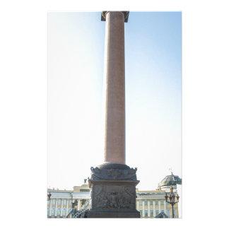 Palast quadratisches St Petersburg Russland Briefpapier