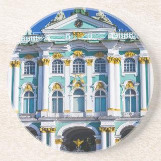 Palast quadratisches St Petersburg Russland Getränkeuntersetzer
