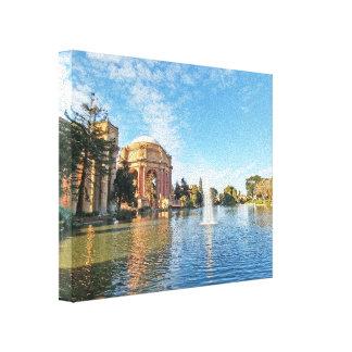 Palast Sans Fransisco von schönen Künsten Leinwanddruck