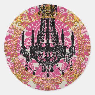 Palast von Kali, Göttin der Zeit, Umschlag Runder Aufkleber