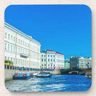 Paläste Neva Fluss Untersetzer