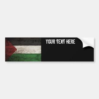 Palästina-Flagge auf altem hölzernem Korn Autoaufkleber