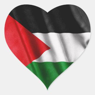 Palästina-Flagge Herz-Aufkleber