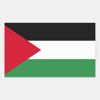 Palästina-Flagge Rechteckiger Aufkleber