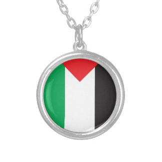 Palästina-Flagge Versilberte Kette