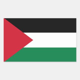 Palästina-Flaggen-Aufkleber Rechteckiger Aufkleber