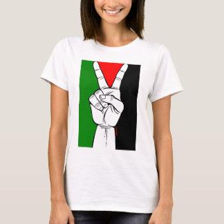 PALÄSTINA-FLAGGEN-FRIEDENSzeichen T-Shirt