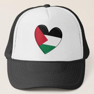 Palästina-Herz-Flagge Truckerkappe