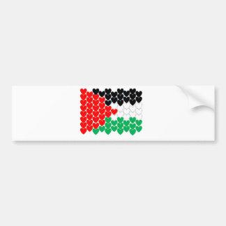 Palästina-Herzen Autoaufkleber