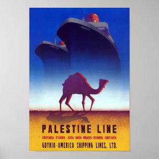 Palästina-Linie Vintages Reise-Plakat Poster