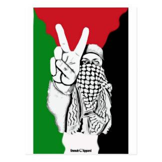 Palästina-Sieg-Flagge Postkarte