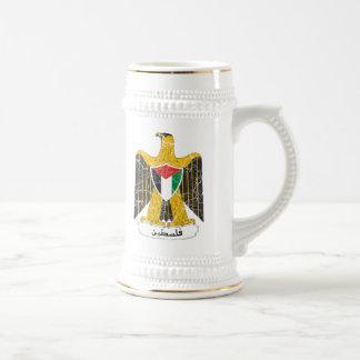 Palästina-Wappen Bierglas
