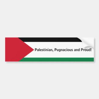 Palästinensisch, streitsüchtig und stolz! autoaufkleber