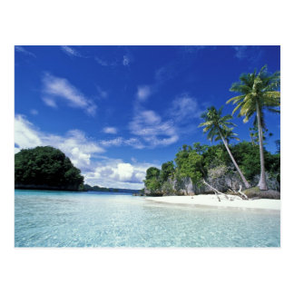 Palau, Felsen-Inseln, Flitterwochen-Insel, Welt Postkarte