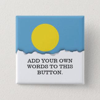 Palau kennzeichnen quadratischer button 5,1 cm