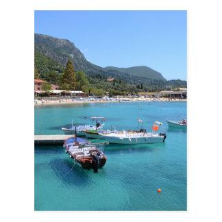 Paleokastritsa Strand, Korfu Postkarte