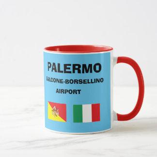 Palerma Flughafen-Sizilien-Flughafen-Code-Tasse Tasse