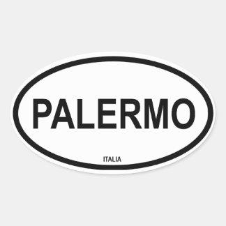 PALERMO OVALER AUFKLEBER