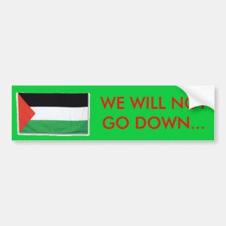 PalestineFlagBig08, WERFEN WIR NOTGO… nieder Autoaufkleber