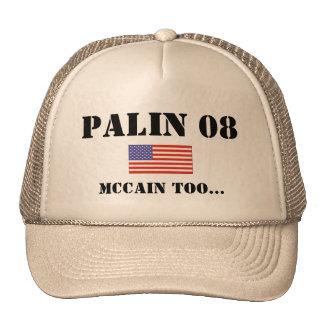 PALIN 08, McCAIN auch… Netzmütze