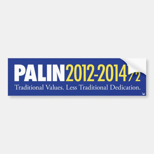 Palin 2012-2014 1/2 auto aufkleber