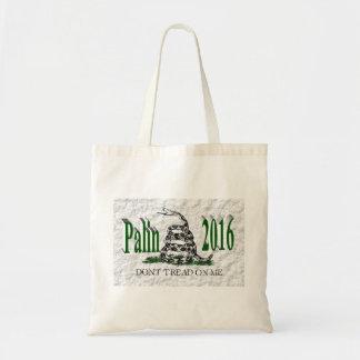 PALIN 2016 Taschen-Tasche, grünes 3D, weißes Budget Stoffbeutel