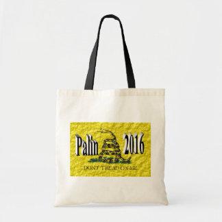 PALIN 2016 Taschen-Tasche, schwarzes 3D, Gadsden Budget Stoffbeutel