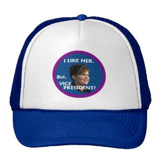 Palin aber, VP? Hut Caps