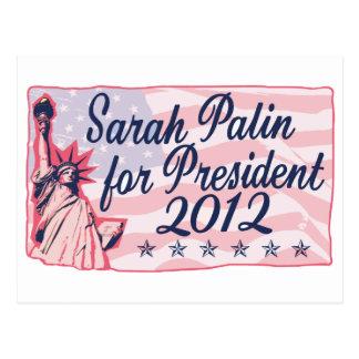 Palin Dame Liberty Postkarte